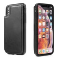 forcell wallet flip case for apple iphone xs max 65 black extra photo 1
