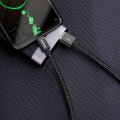 baseus cable double fast usb for type c 5a black extra photo 1