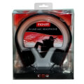 maxell hp headphones with mic black red extra photo 2