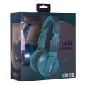maxell metalz jade blue headphones with mic extra photo 1