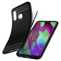 spigen rugged armor back cover case for samsung galaxy a40 black extra photo 2