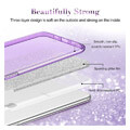 esr makeup glitter back cover case for apple iphone 11 61 purple extra photo 1