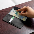 4smarts premium wallet case urban for apple iphone 11 pro all black extra photo 4