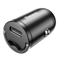 baseus tiny star pps car charger type c 30w fast charging grey extra photo 1