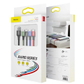 baseus fast 4 in 1 cable 2x lightning type c micro 35a black extra photo 3