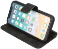 forever classic leather book flip case for for iphone 11 pro max black extra photo 1