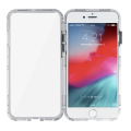 magnetic full glass case for iphone x iphone xs silver extra photo 1
