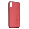 original audi leather case au tpupcs10 tt d1 rd for samsung s10 red extra photo 2