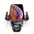 baseus future gravity smartphone holder for vehicle round air outlet black extra photo 3