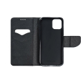 fancy book flip case for huawei y6p black extra photo 1