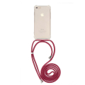 forcell cord neck strap back cover case for huawei y6p red extra photo 1