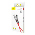 baseus water drop shaped lamp type c pd20 60w flash charge data cable 20v 3a 1m red extra photo 2