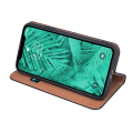 genuine leather flip case smart pro for xiaomi redmi note 8t black extra photo 2
