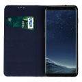 genuine leather flip case smart pro for xiaomi redmi note 8t navy blue extra photo 1