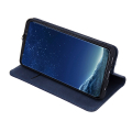 genuine leather flip case smart pro for xiaomi redmi note 8t navy blue extra photo 2