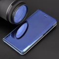 smart clear view flip case for xiaomi redmi note 9 blue extra photo 2