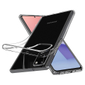 spigen liquid crystal back cover case for samsung galaxy note 20 transparent extra photo 1