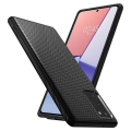 spigen liquid air back cover case for samsung galaxy note 20 matte black extra photo 3