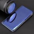 smart clear view flip case for motorola moto g8 power lite blue extra photo 2