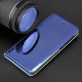 smart clear view flip case for samsung a20e blue extra photo 2