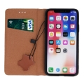 genuine leather flip case smart pro for huawei p40 lite e huawei y7p brown extra photo 1