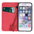 genuine leather flip case smart pro for iphone 11 maroon extra photo 1
