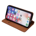 genuine leather flip case smart pro for samsung a10 brown extra photo 2