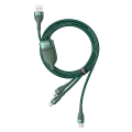baseus flash series 3 in 1 fast charging cable usb to micro usb lightning type c 5a 18w 12m green extra photo 2