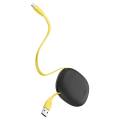 baseus let s go little reunion one way stretchable data cable usb for type c 2a 1m gray yellow extra photo 3