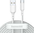 baseus simple wisdom data cable kit 2 pack usb to type c 5a watt 15m white extra photo 1