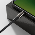 baseus tungsten gold fast charging data cable type c to lightning pd 20w 2m black extra photo 5