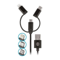 forever cc 03 car charger dual usb 24 a 3in1 cable microusb iphone type c extra photo 1