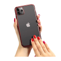 forcell new electro matt back cover case for iphone 12 pro max red extra photo 1