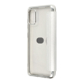 forcell electro book flip case for samsung a41 silver extra photo 1
