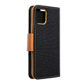 canvas book flip case for apple iphone 12 mini black extra photo 2