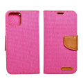 canvas book flip case for apple iphone 12 mini pink extra photo 1