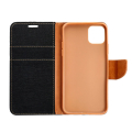 canvas book flip case for apple iphone 12 pro max black extra photo 1