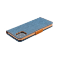 canvas book flip case for apple iphone 12 pro max navy blue extra photo 2