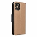 fancy book flip case for iphone 12 12 pro black gold extra photo 3