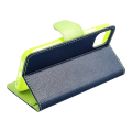 fancy book flip case for iphone 12 12 pro navy lime extra photo 3