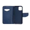 fancy book flip case for iphone 12 mini red navy extra photo 1