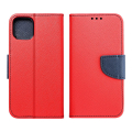 fancy book flip case for iphone 12 mini red navy extra photo 2