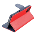fancy book flip case for iphone 12 mini red navy extra photo 3