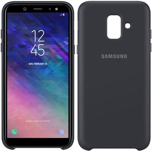 competitive price 93380 df46a SAMSUNG DUAL LAYER COVER EF-PA600CB FOR GALAXY A6 2018 BLACK