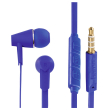 hama 184009 hama joy headphones in ear microphone flat ribbon cable blue photo