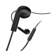 hama 184037 hama advance headphones earbuds microphone flat ribbon cable black photo