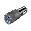4smarts hybrid 20 in car 27w pd qc 30 charger metal grey photo