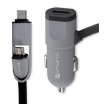 4smarts multicord car charger micro usb usb type c 50cm black photo