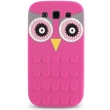 greengo silicon 3d back cover case owl for huawei p8 lite pink 5900495421852 photo