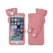 greengo silicon 3d back cover case mr bear for samsung galaxy s6 g920 pink photo